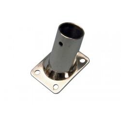 Supporto rettangolare in acciaio inox inclinato 60º ringhiere nautiche tubo 25 mm