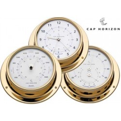 Thermo-Hygrometer Cap Horizon (di barigo) in ottone lucido 120mm