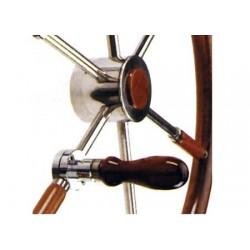 Impugnatura pieghevole con attacco a morsetto per ruote da timoniere