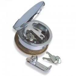 Alzapagliolo a filo in ottone cromato con serratura 84mm